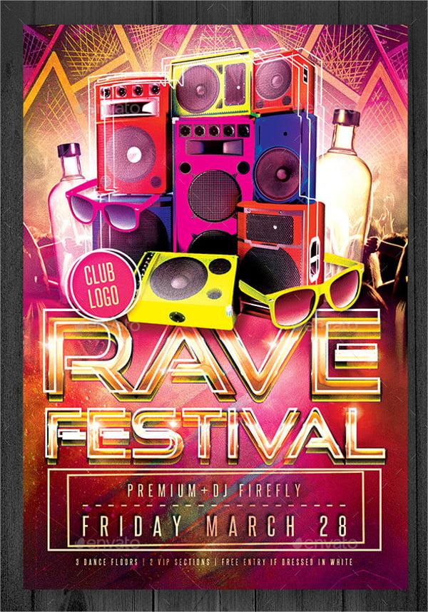 Modern Rave Festival Flyer