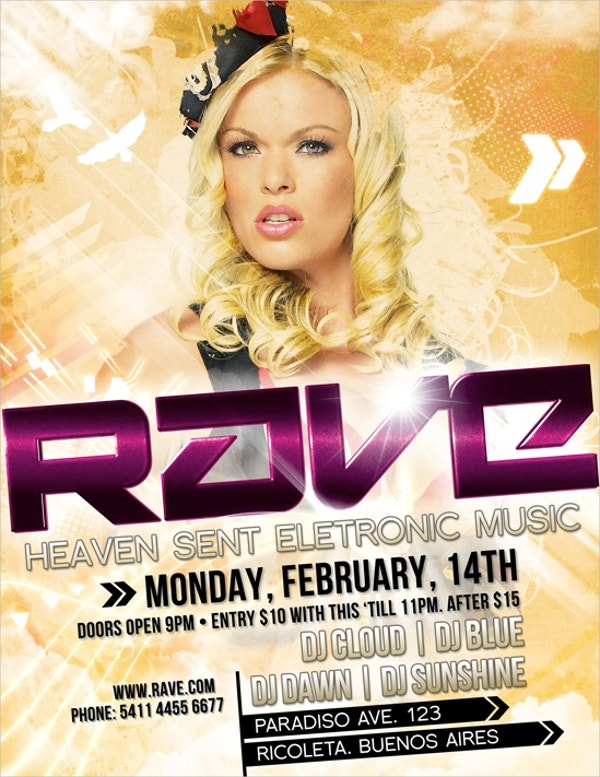 Rave PSD Flyer Template
