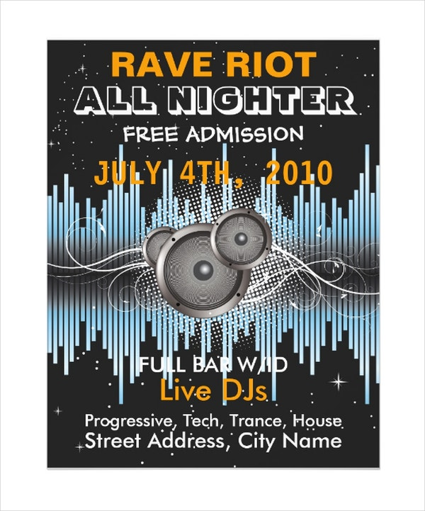 Rave Riot Music Flyer Template