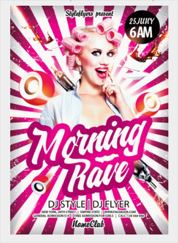 Morning Rave Flyer Template