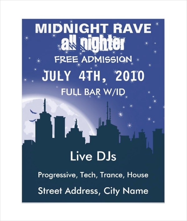 Midnight City Rave Flyer Template