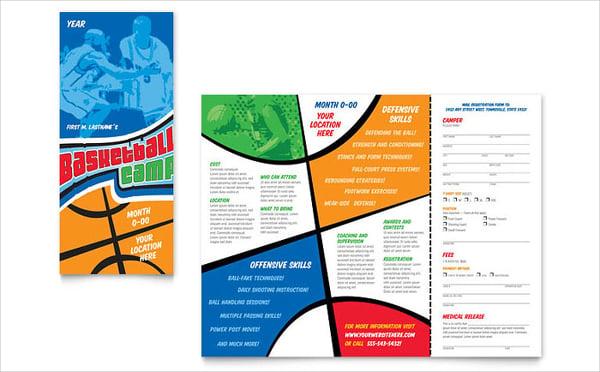 basketball sports camp brochure