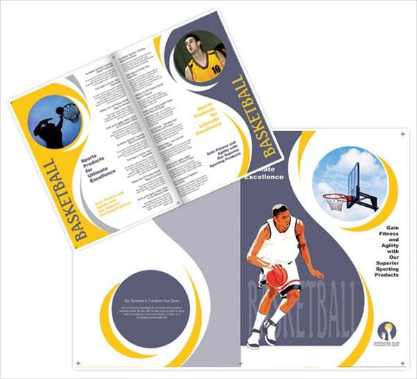 Unique Basketball Brochure Template
