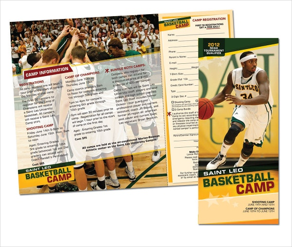 Basketball Camp Brochures  Free Psd Eps Ai Format Download
