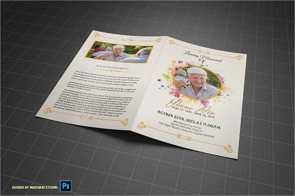loving memorial funeral program