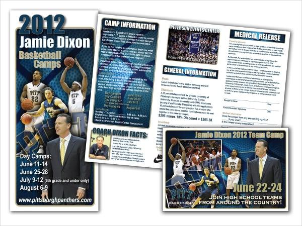 High school Basketball Camp Brochure
