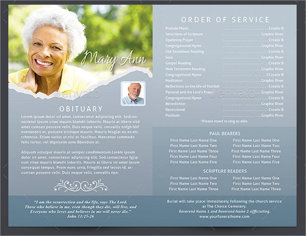 20 memorial program templates free psd ai eps format for Free funeral program template