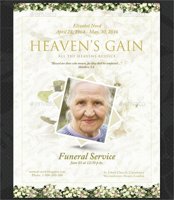 Obituary Memorial Program Template