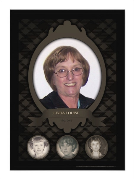 Over the Years Memorial Program Template