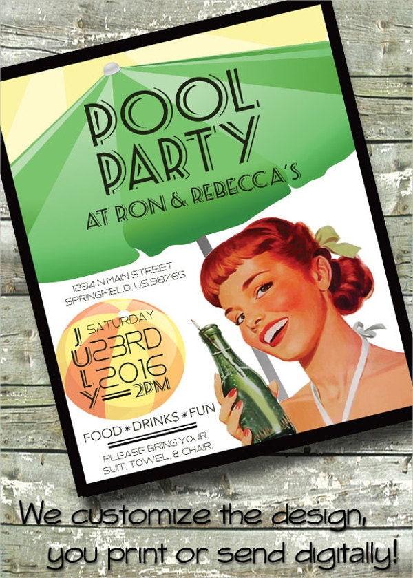 Pin-Up Girl POOL PARTY Flyer