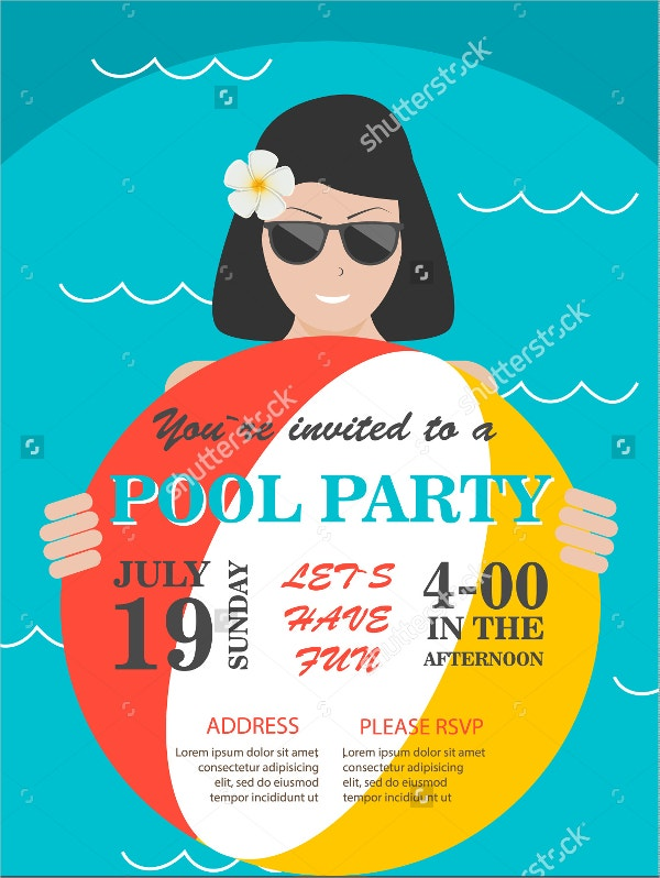 Pool party Invitation Flyer