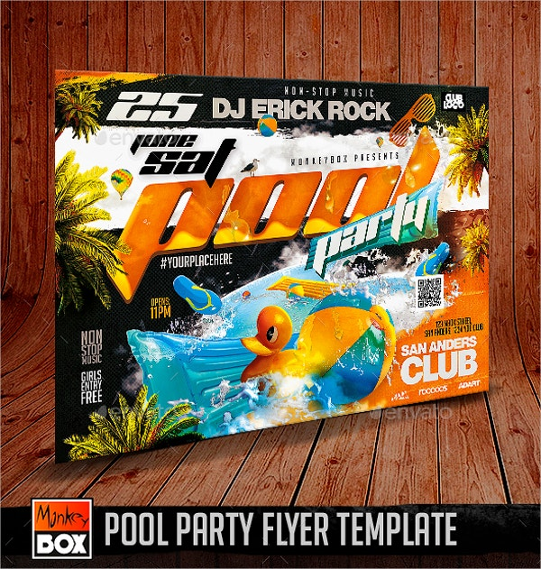 Pool Party Flyers  Free Psd Ai Eps Format Download  Free