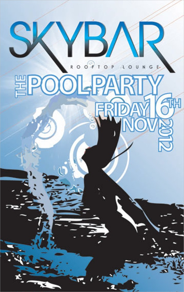 Roof Top Pool Party Flyer