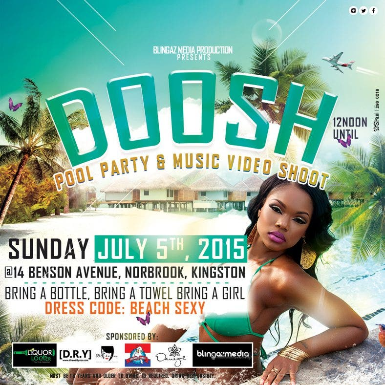 Doosh Pool Party Flyer