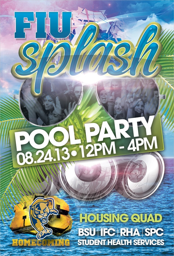 Splash Pool Party Flyer