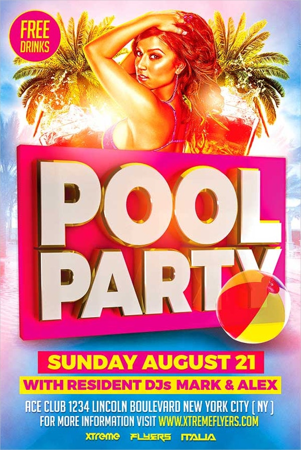 PUb Pool Party Flyers