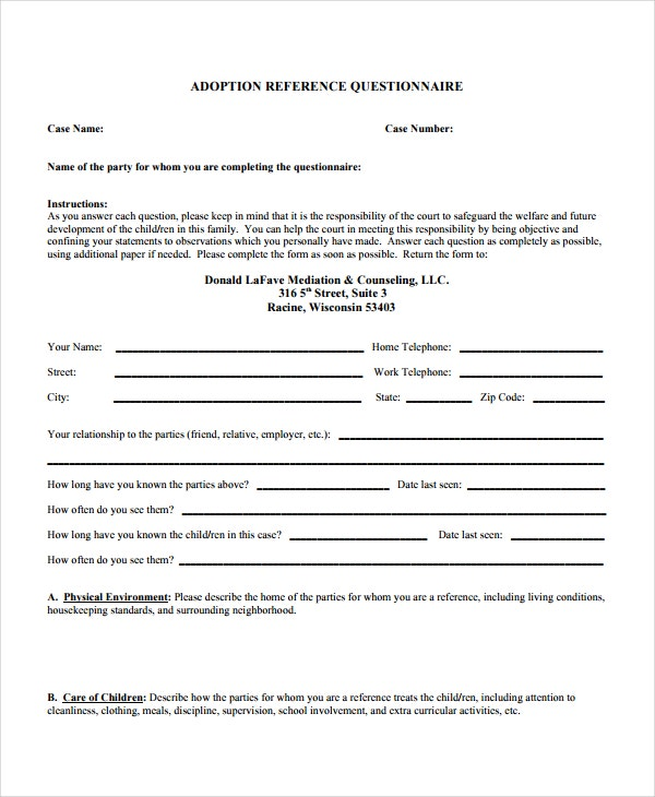 Employment reference letter questionnaire altavistaventures Image collections