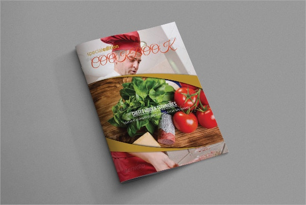 Organic Cookbook Food Brochure