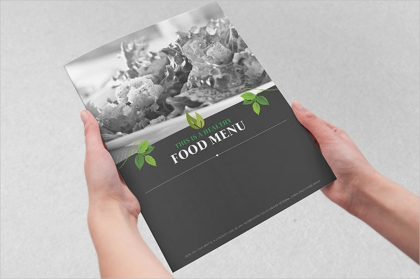 healthy organic food menu template