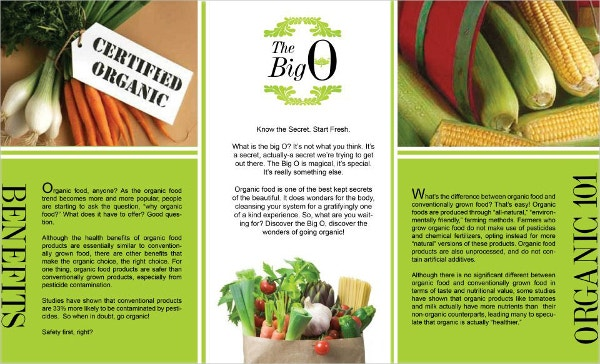 Organic Food Brochures  Free Psd Ai Eps Format Download