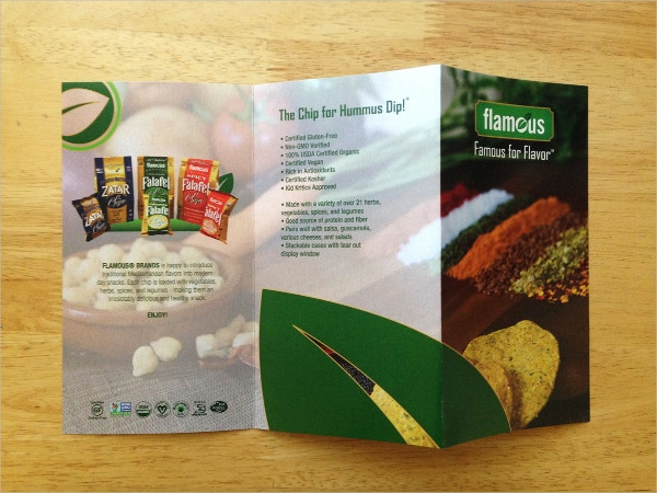 flamous brands organic food brochure