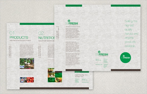 Organic Health Food Market Brochure Template