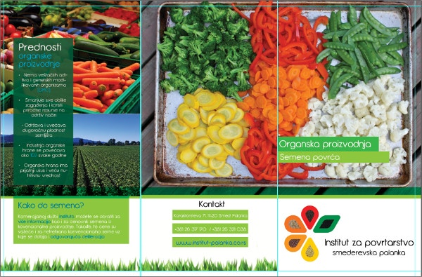 organic trifold food brochure