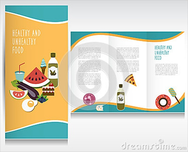 18 organic food brochures free psd ai eps format for Free food brochure templates