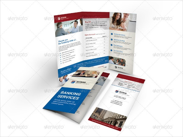 bank tri fold brochure