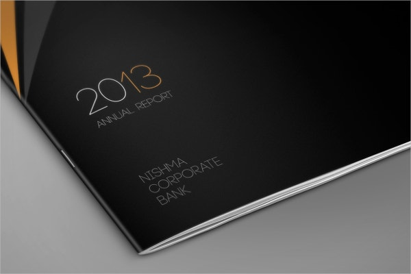 annual report bank brochure