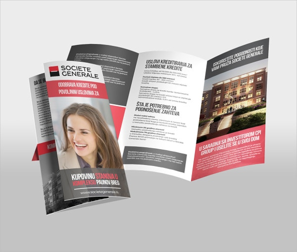 home banking brochure template
