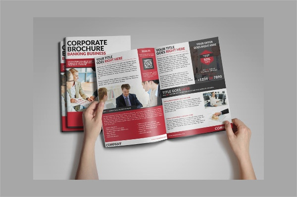 corporate banking bifold brochure