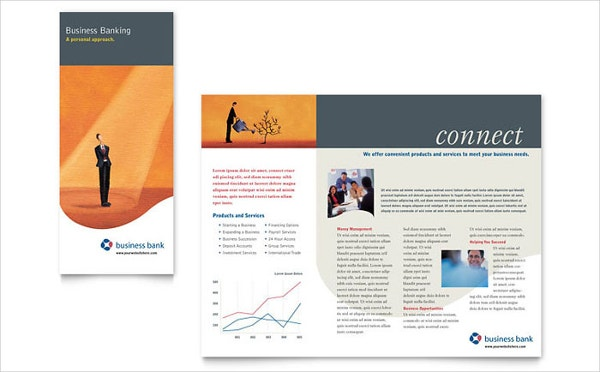 business bank brochure template