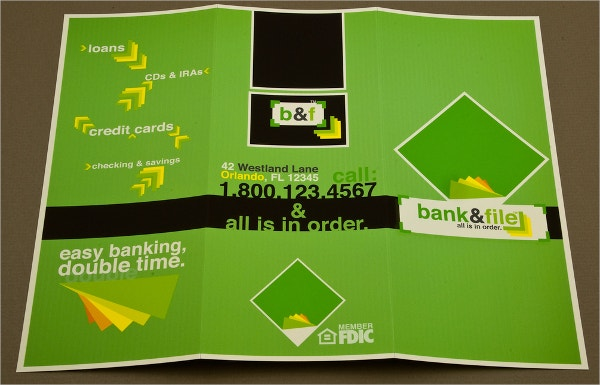 financial and banking brochure template