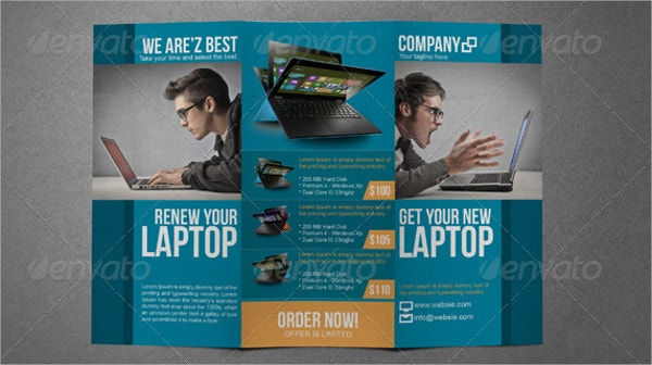 Electronic Sales Trifold Brochure