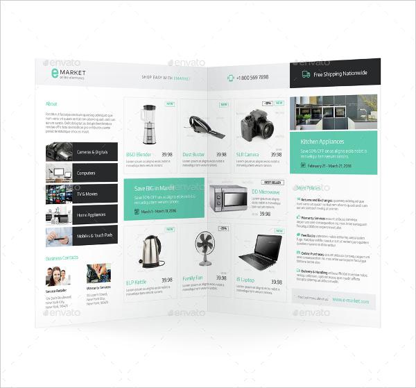 Electronic Half Fold Brochure