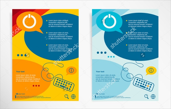 Electronic Power Pointer Brochure Template