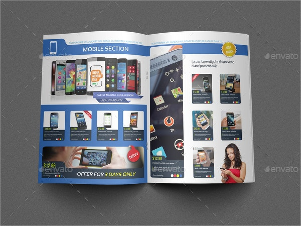 electronics products catalog brochure bundle