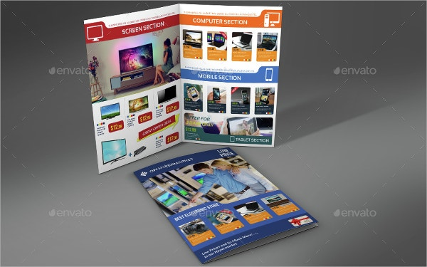 Electronics Products Bi Fold Brochure