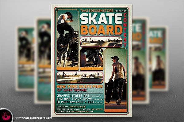 Skating Competition Flyer