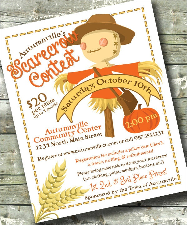 Scarecrow Community Contest Event Flyer