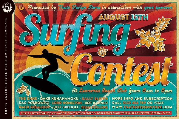 Surfing Contest Flyer
