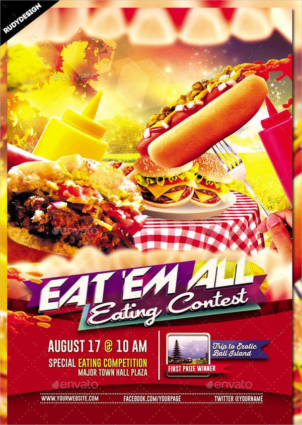 Eating Contest Flyer