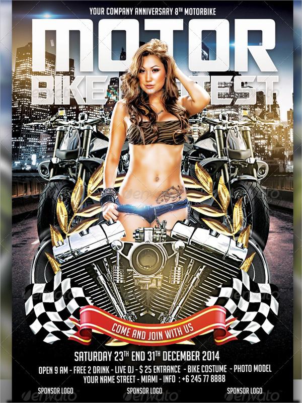 motorbike contest flyer