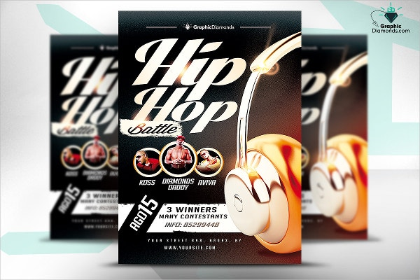 Hip Hop Battle Contest Flyer