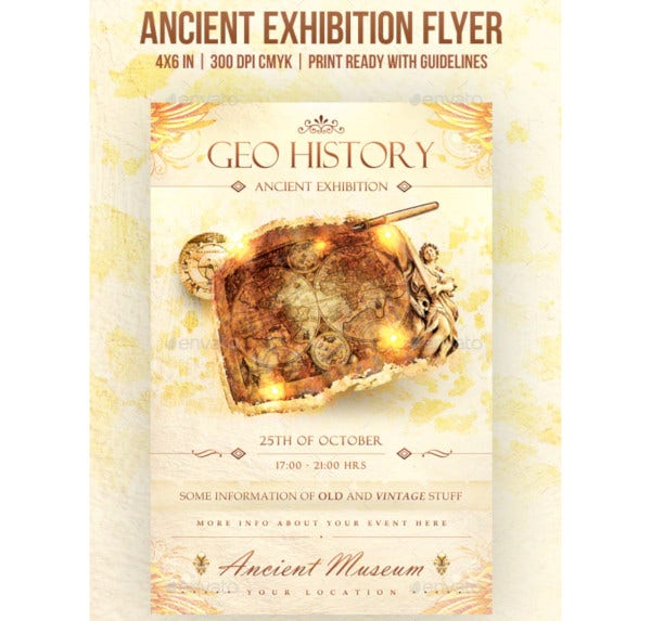 ancient exhibition flyer