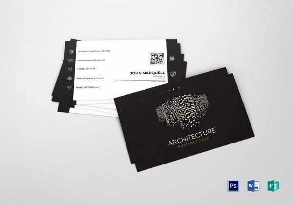 architect business card word template