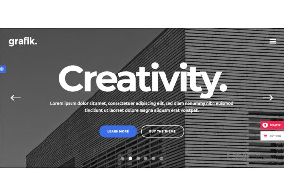 architecture and design portfolio theme