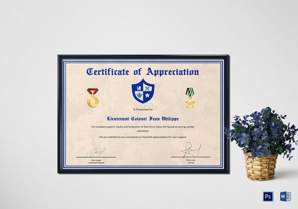 army-certificate-of-appreciation-template