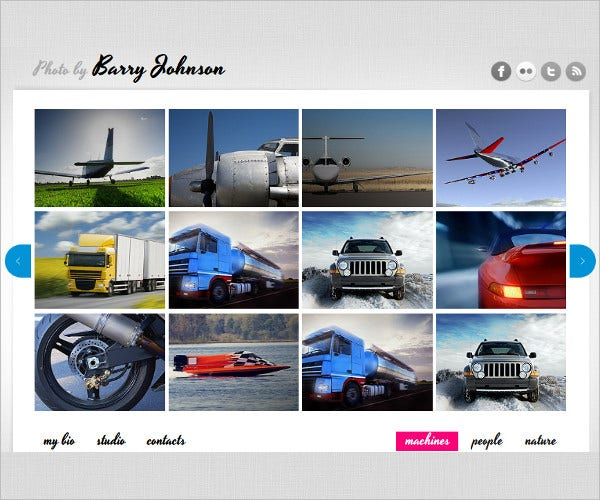 art and photography web template